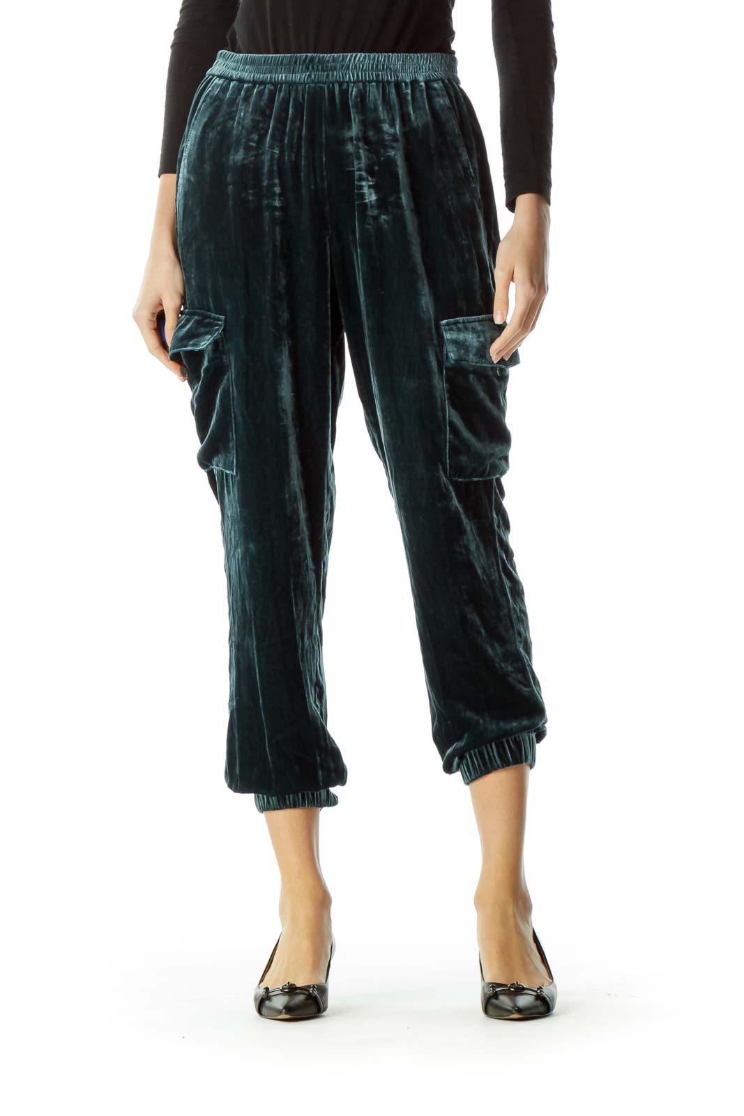 Blue Velvet Track Pants