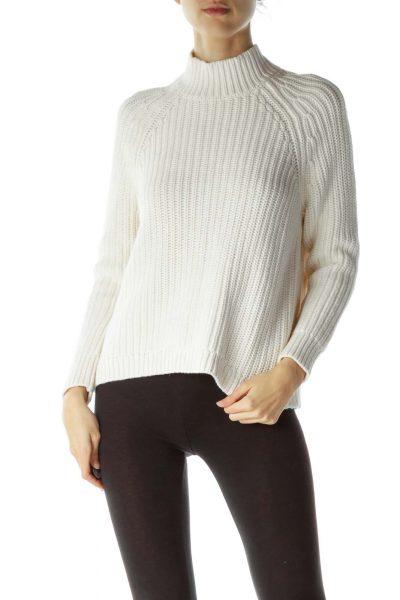 Cream 100% Cotton Open Back Sweater