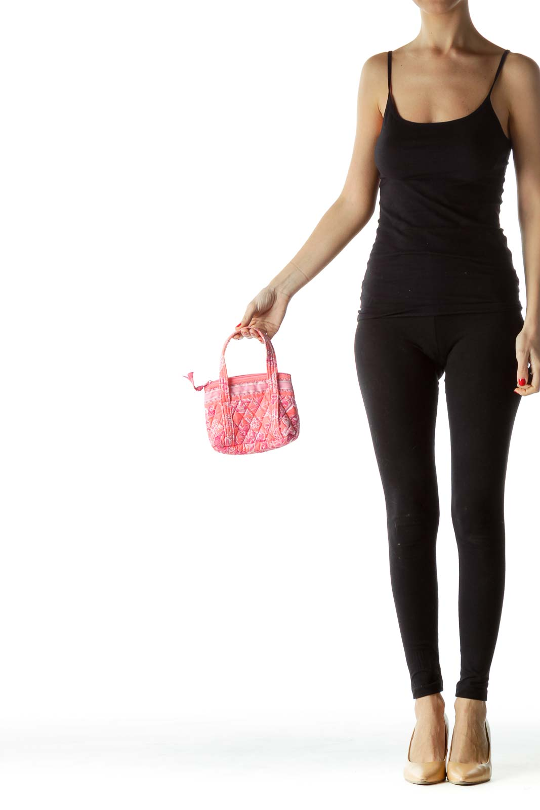 Pink Printed Clutch with Straps