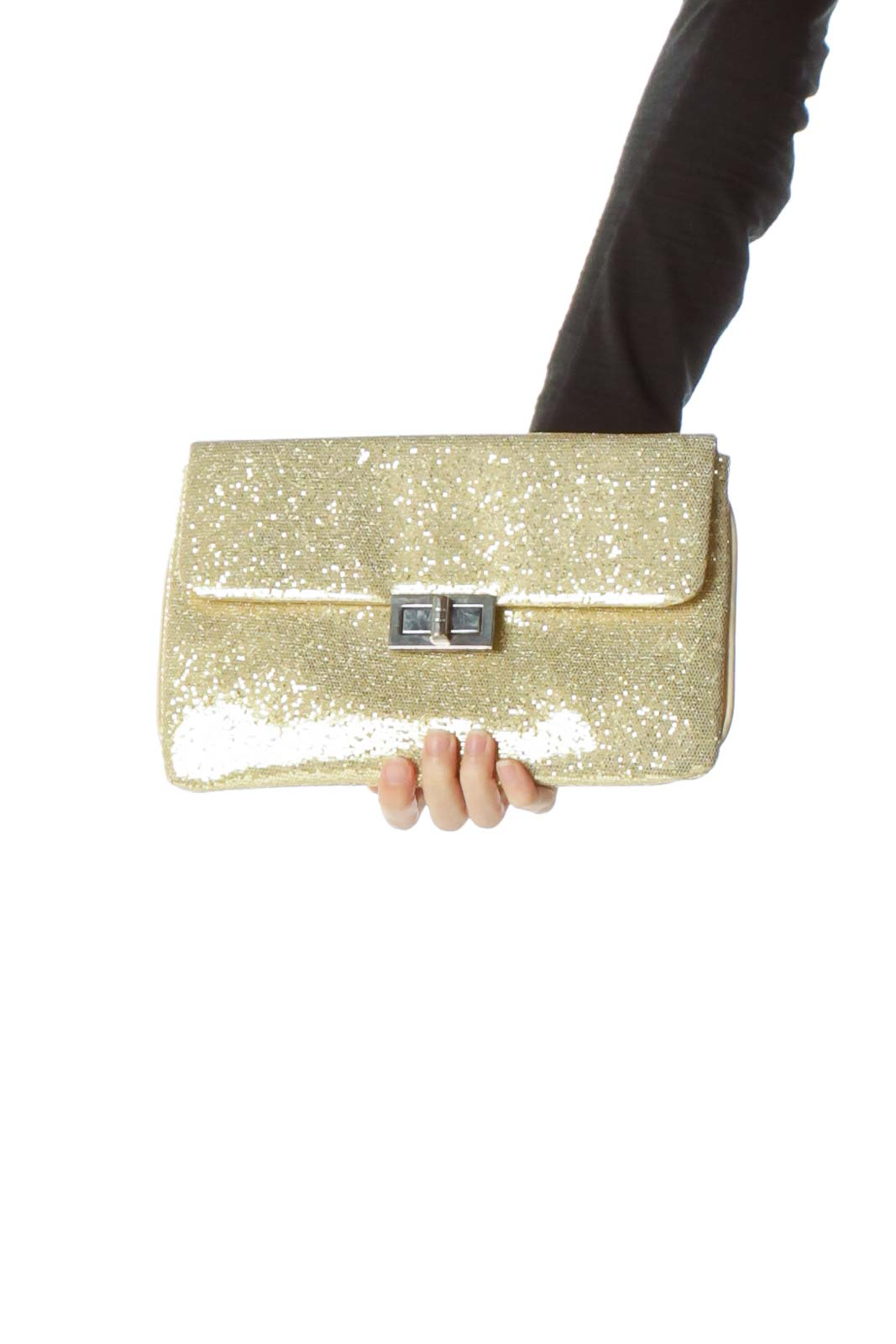 Gold Clutch with Chain
