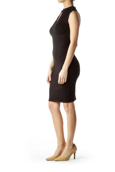 Black Knit Midi Dress
