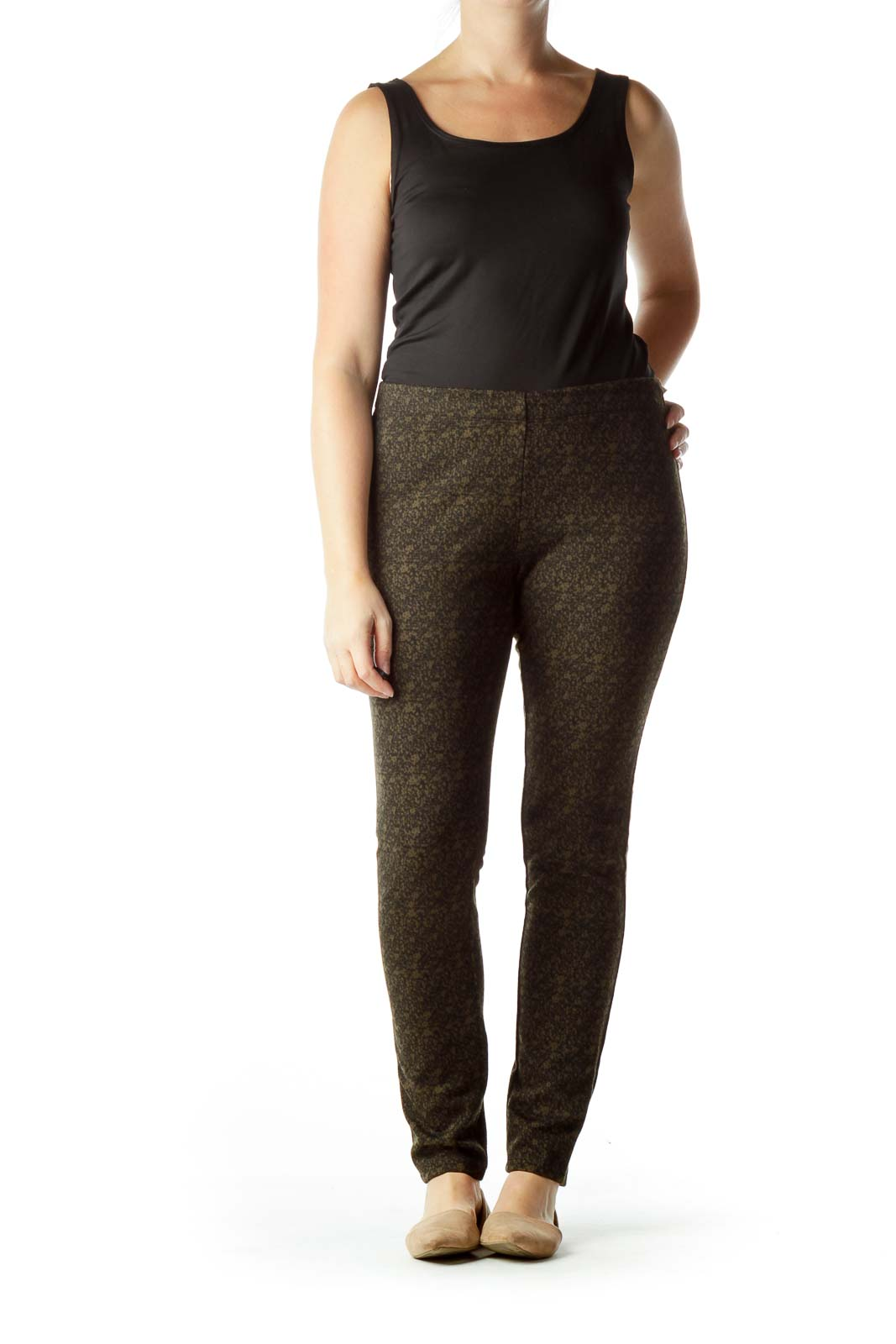 Black Brown Printed Leggings