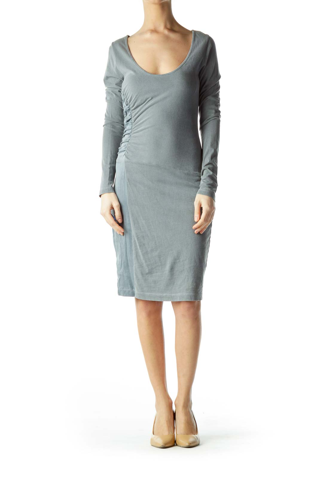 Gray Jersey Bodycon Dress