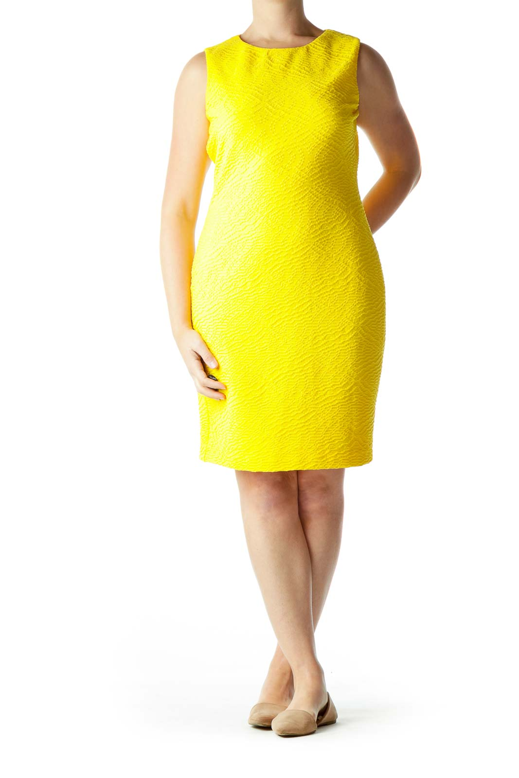 Yellow Shift Work Dress