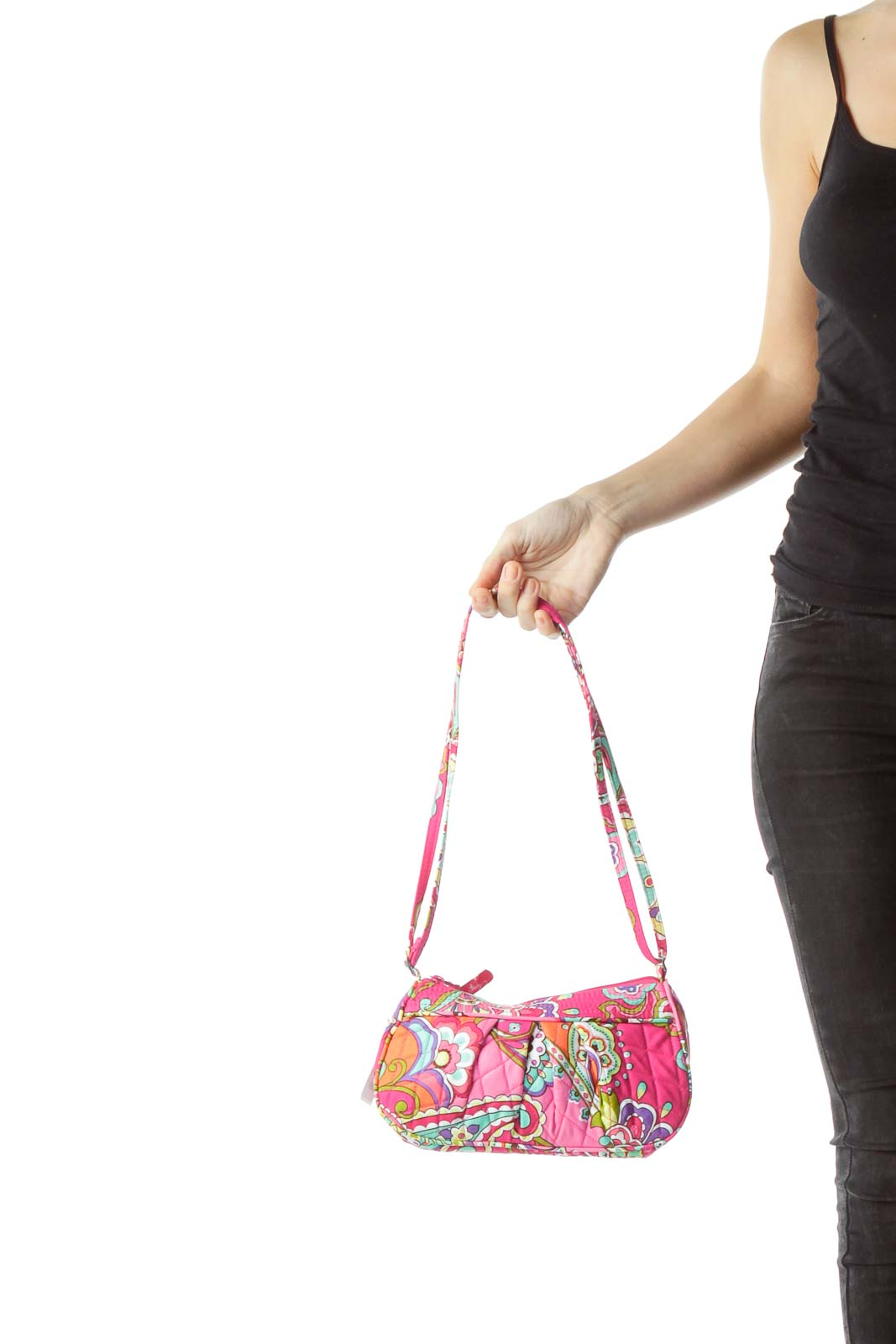 Pink Paisley Mini Shoulder Bag