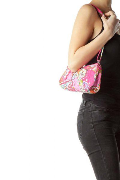 Pink Paisley Mini Shoulder Bag