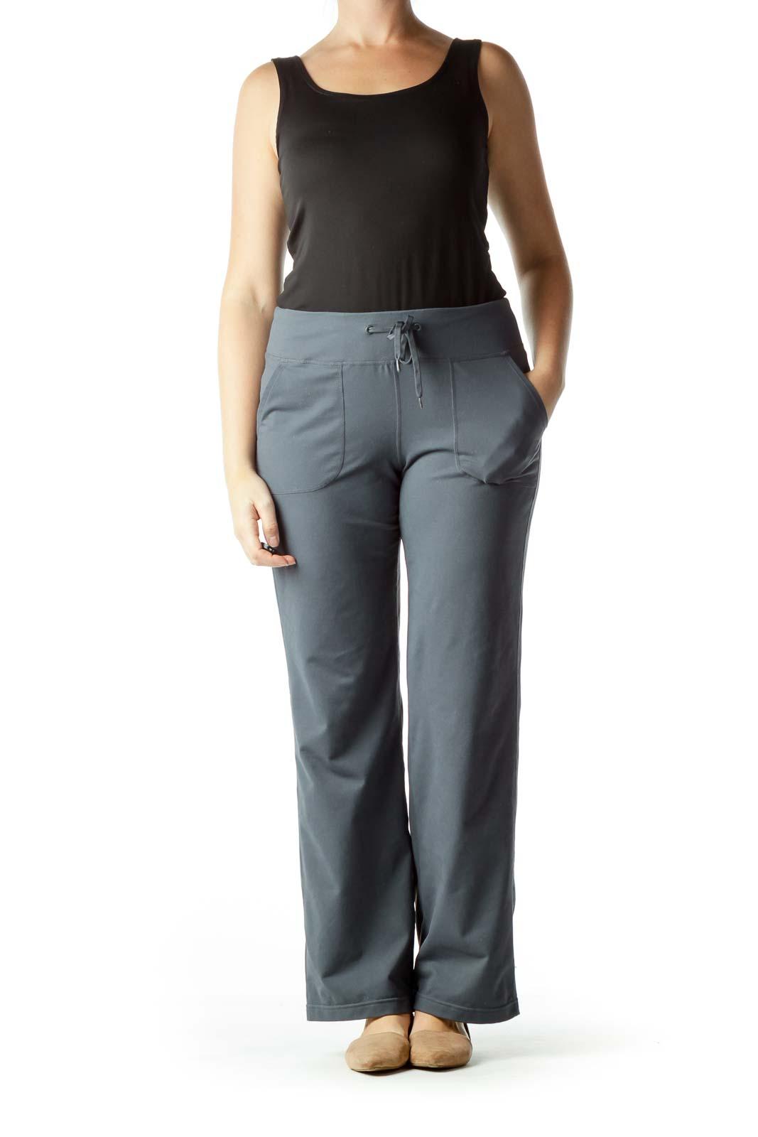 Gray Pocketed Yoga Pants