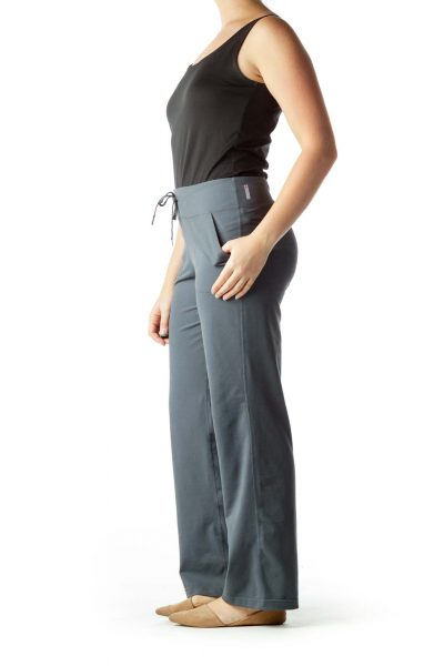 Gray Pocketed Yoga Pants