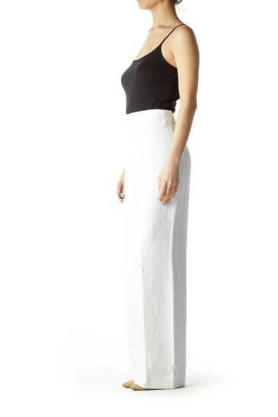 Cream High-Waisted Pants