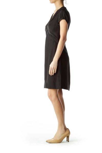 c87edd7119679 Black Knot Front Short Sleeve Dress Black Knot Front Short Sleeve Dress