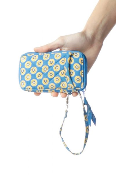 Blue Yellow Print Wallet