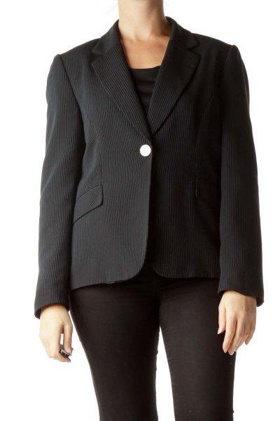 Black White Pinstripe Blazer