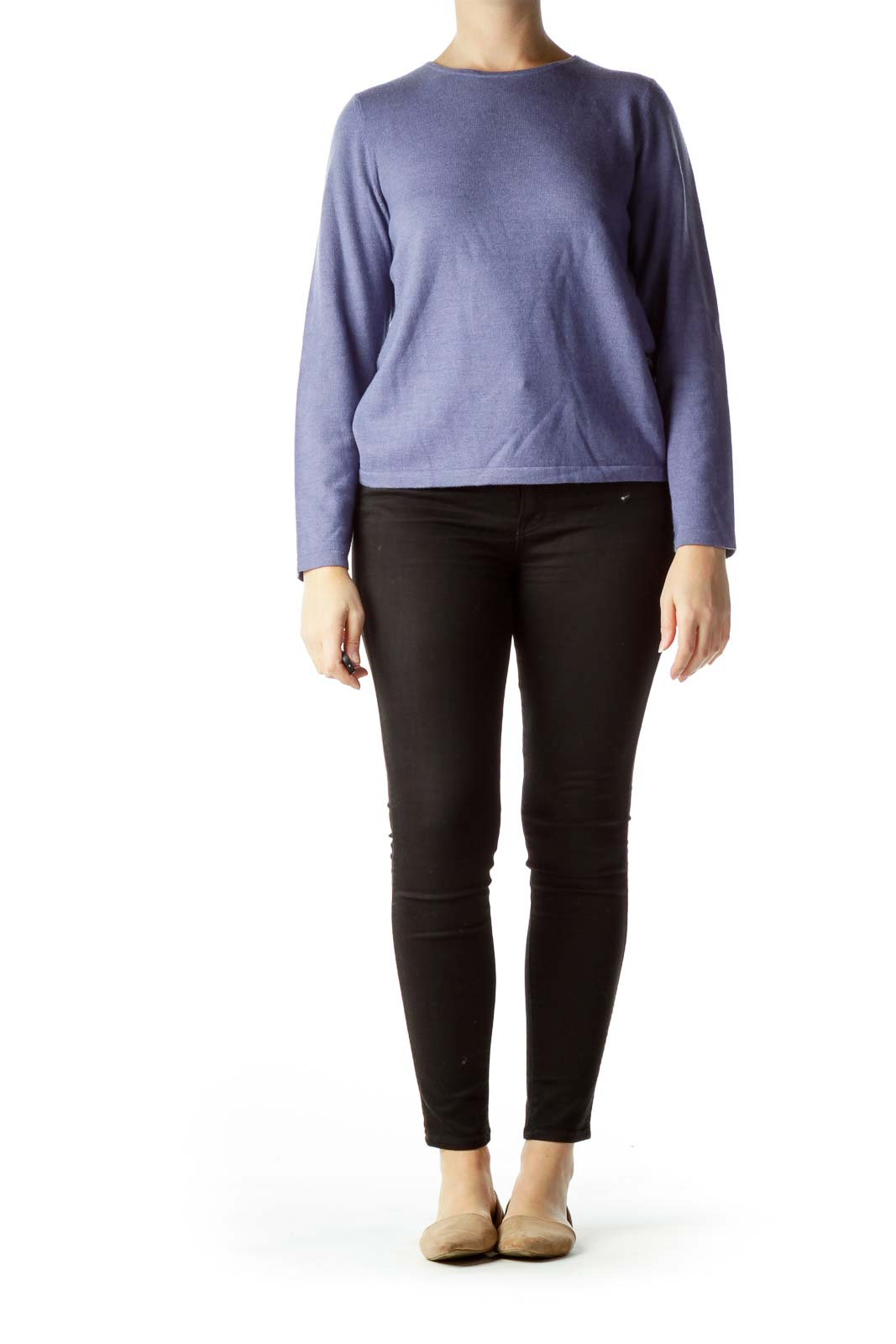Purple 100% Pure Italian Wool Sweater
