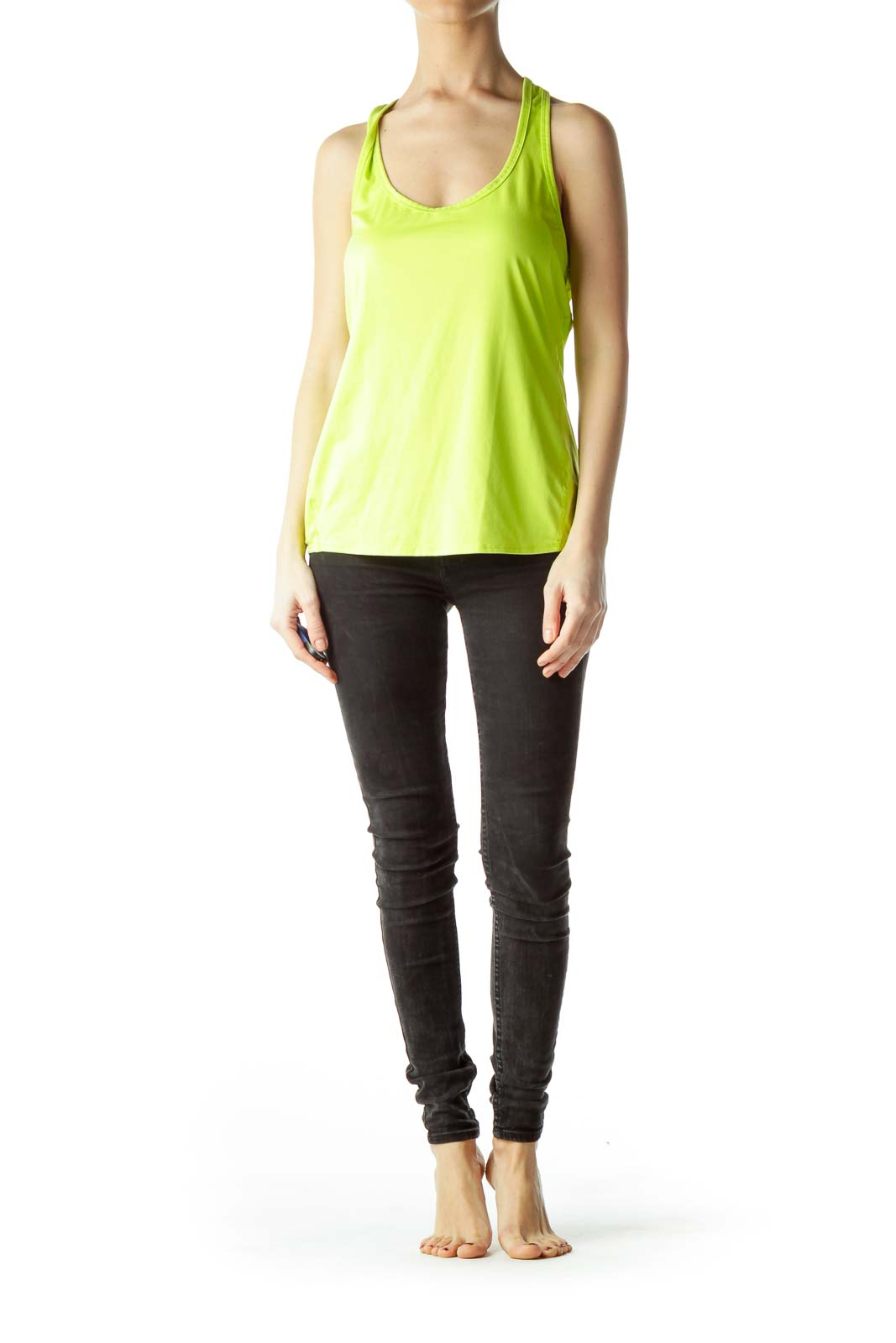 Fluorescent Green Sports Tank Top