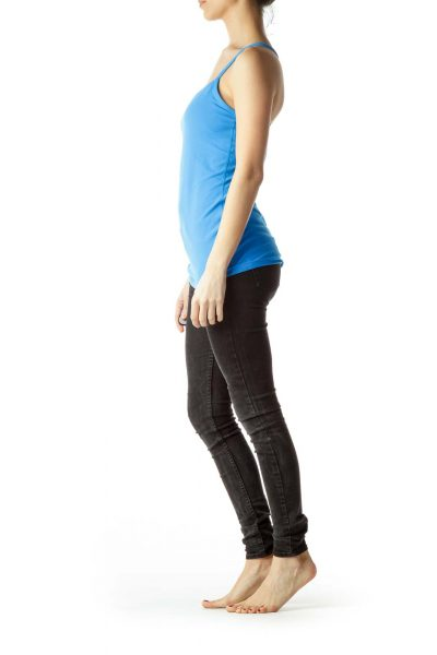 Blue Racerback Sports Top