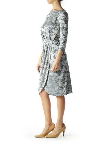 Silver Shiny Sheath Dress