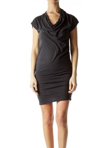 Gray Bodycon Jersey Dress