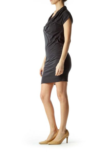Gray Bodycon Jersey Dress