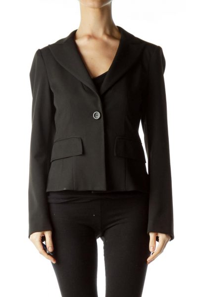 Black Blazer with Bow on the Back