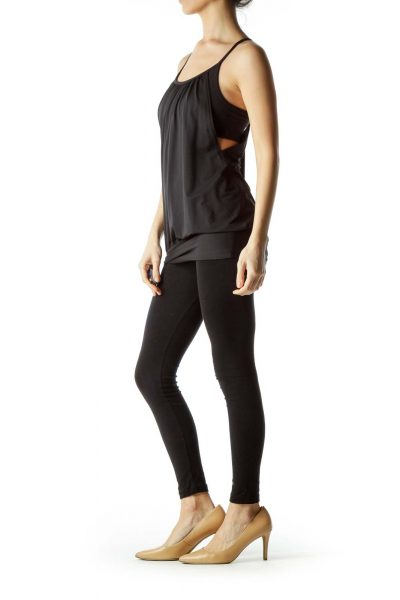 Black Racerback Sports Top