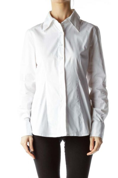 White Button Down Shirt with Collar