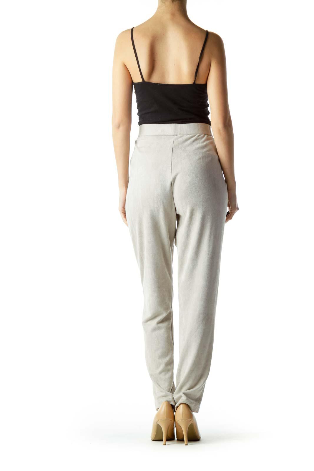 Shop Gray Faux Suede Leggings clothing and handbags at SilkRoll ... f1c88562b4912