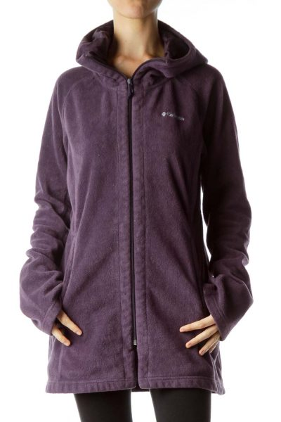 Purple Hooded Fleece