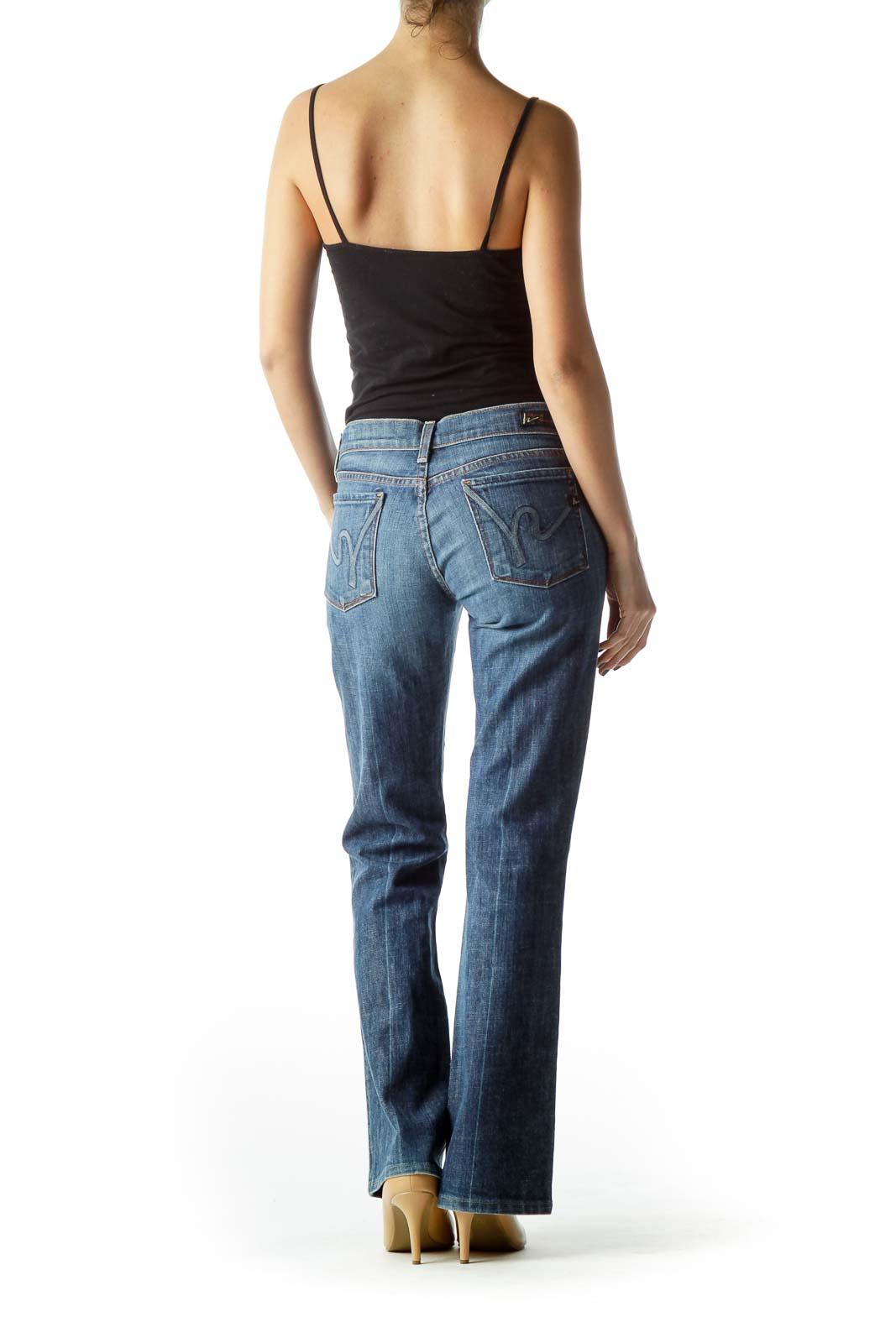 Blue Medium Wash Denim Jeans
