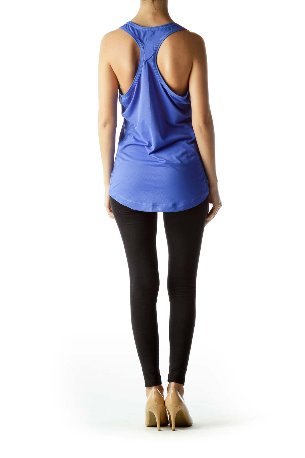 Electric Blue Racerback Sports Tank Top