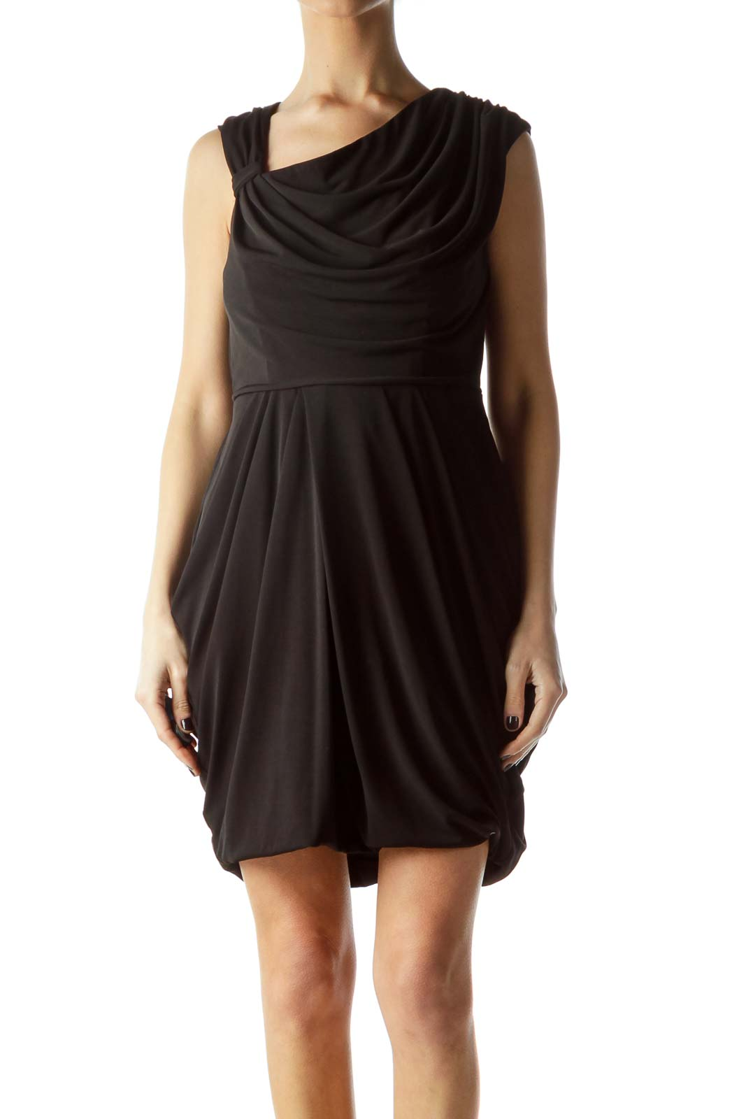 Black Elastic Stretch Cocktail Dress