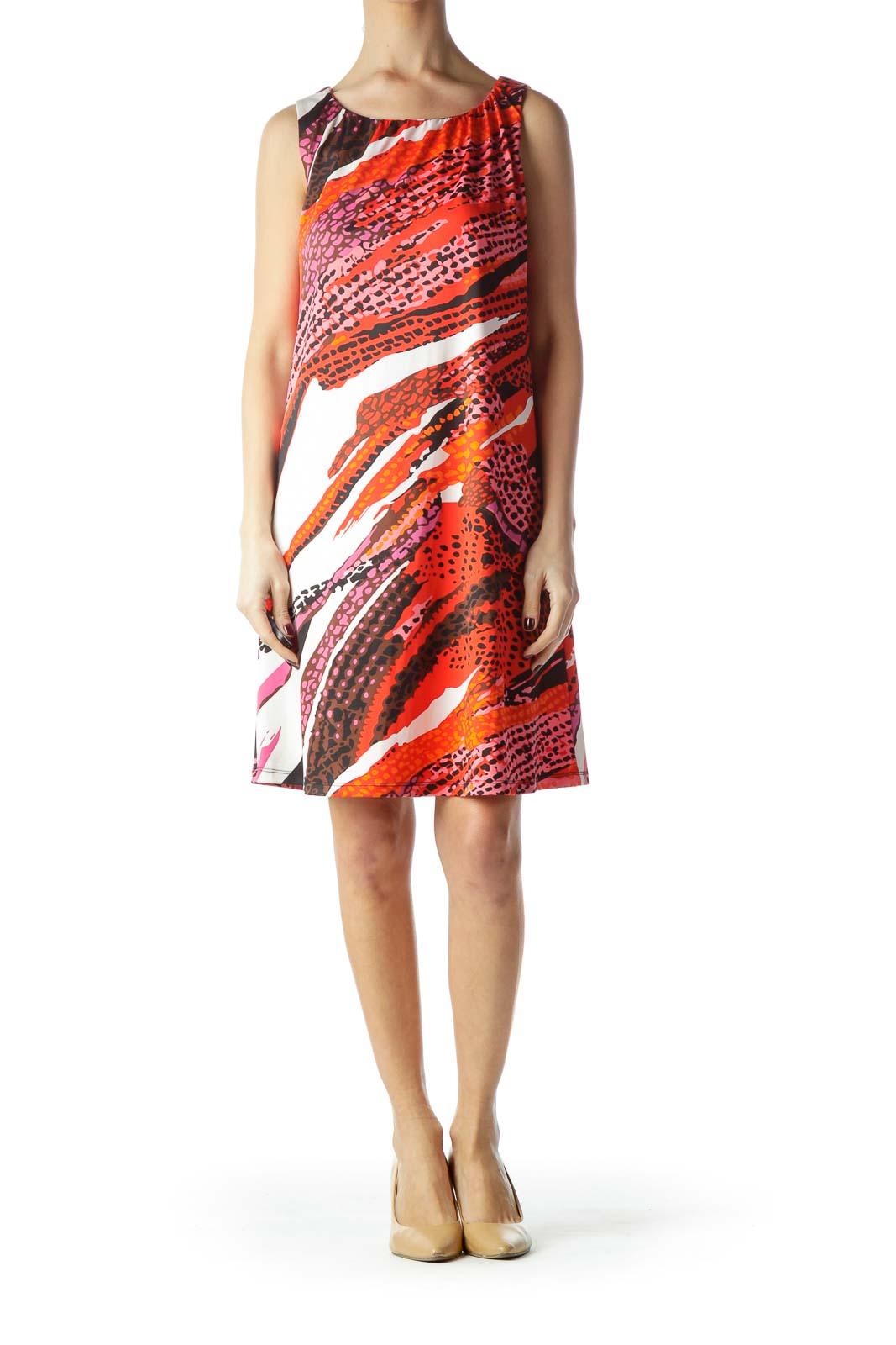 Multicolor Animal Print Sleeveless Dress