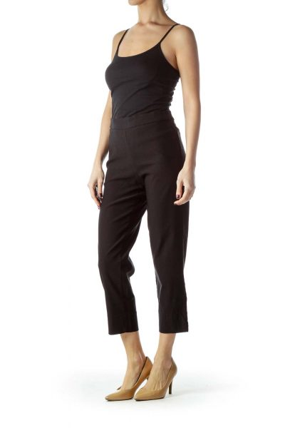 Black Stretch Cropped Pants
