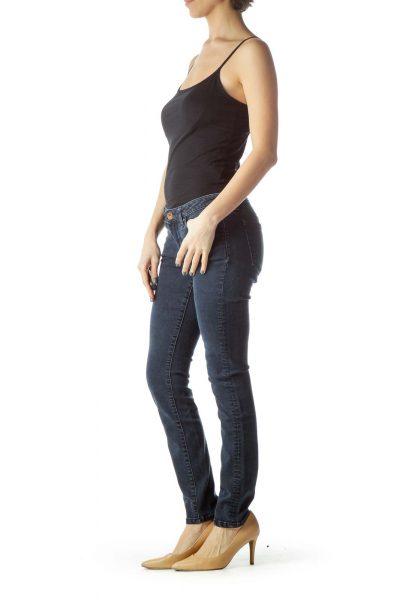 Blue Short Skinny Jean