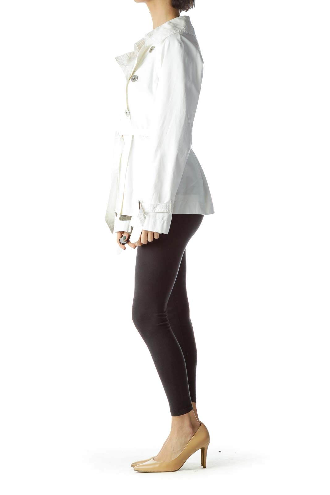 White Double-Breasted Jacket