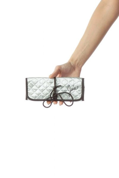 Silver Quilted Pouch