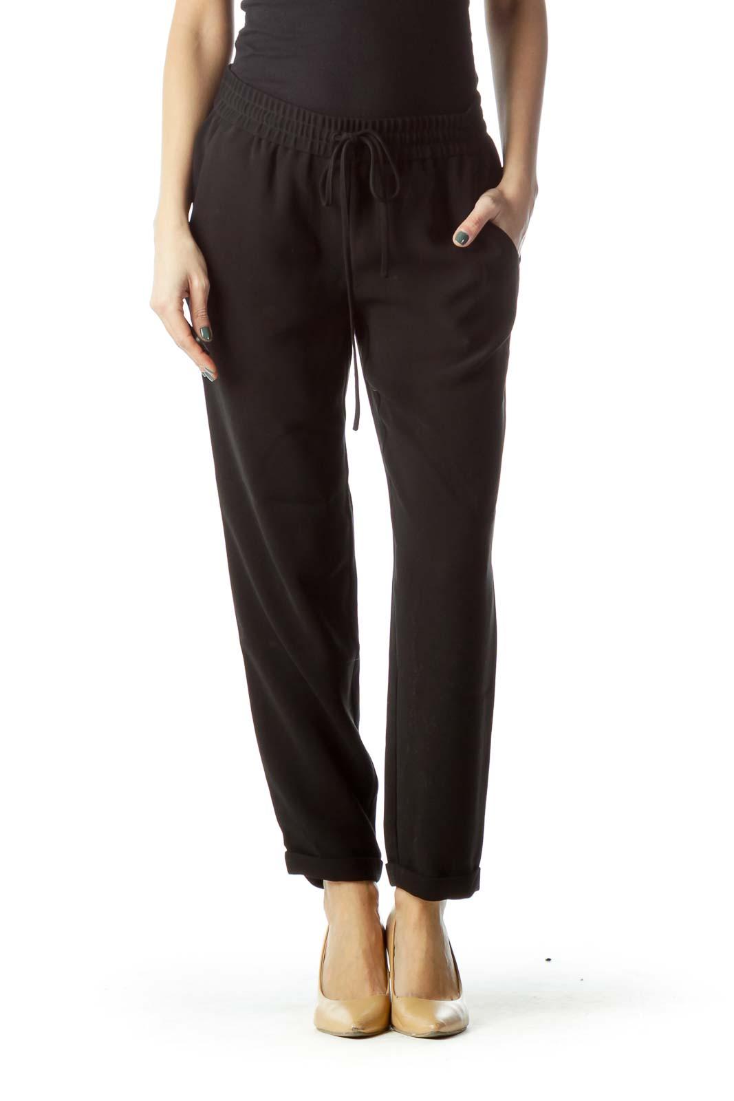Black Soft Straight Leg Pant