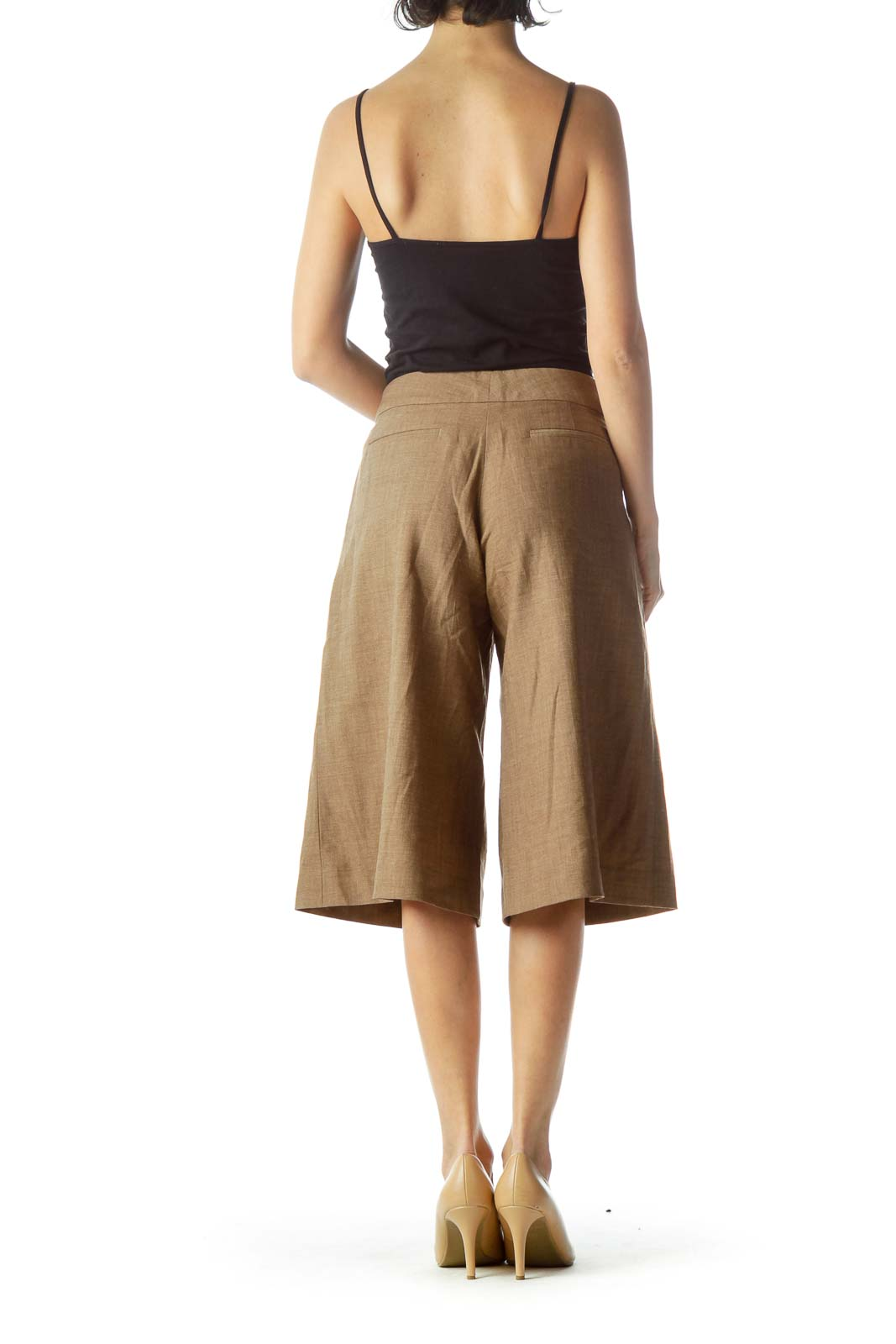 Brown Wool Culottes