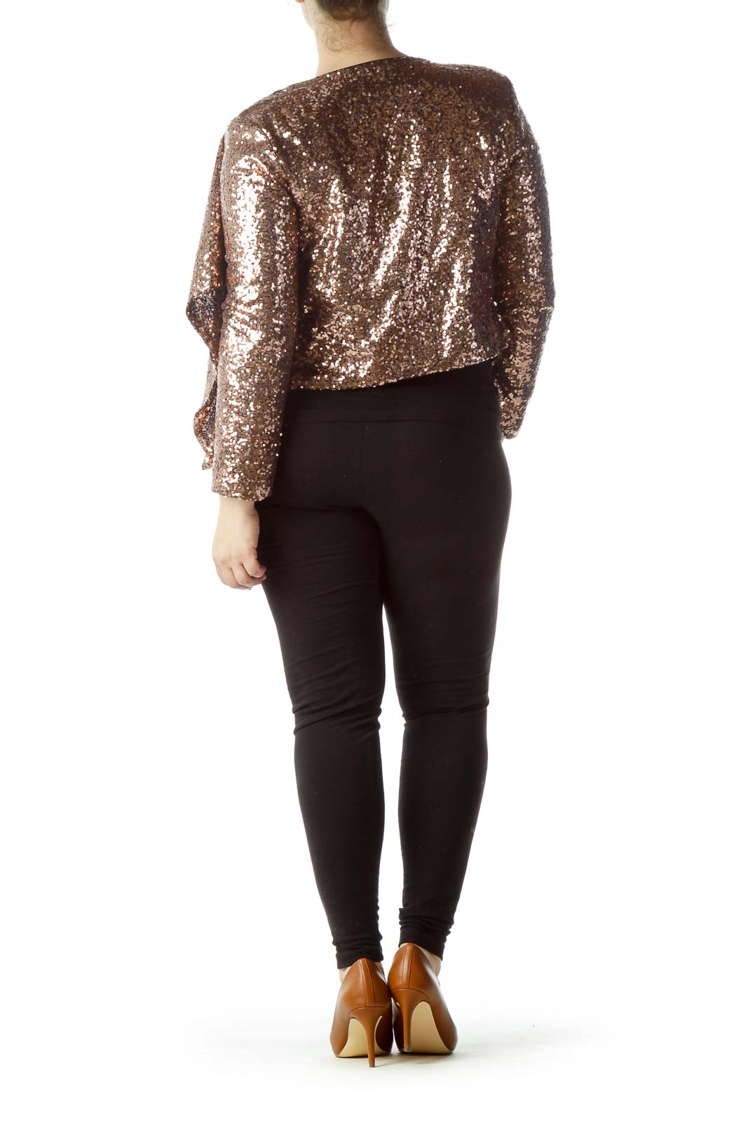 Gold Sequined Waterfall Blazer
