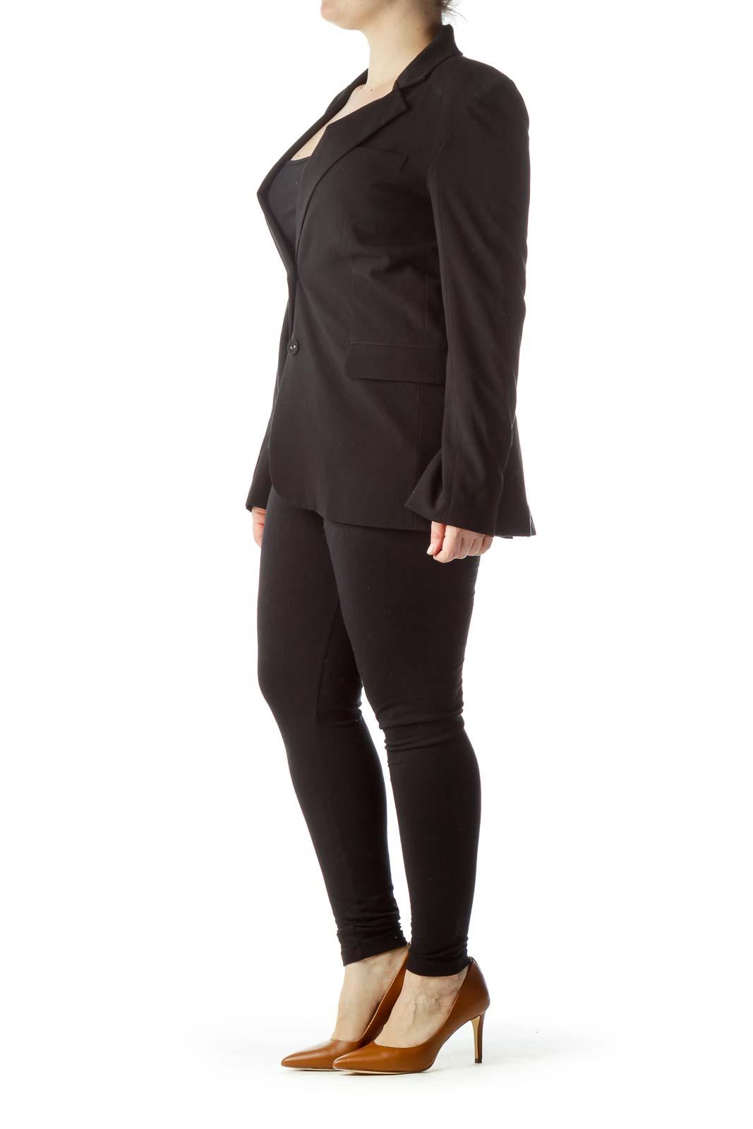 Black Buttoned Blazer