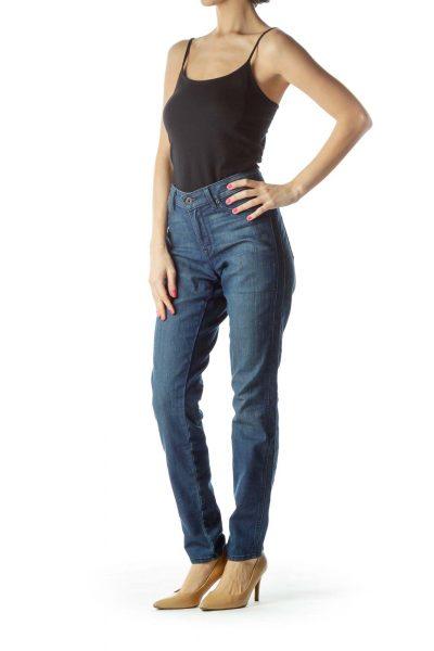 Blue Medium Wash Skinny Jean