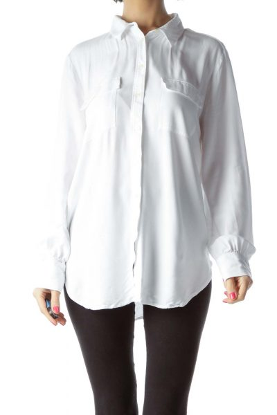 White Unstructured Shirt