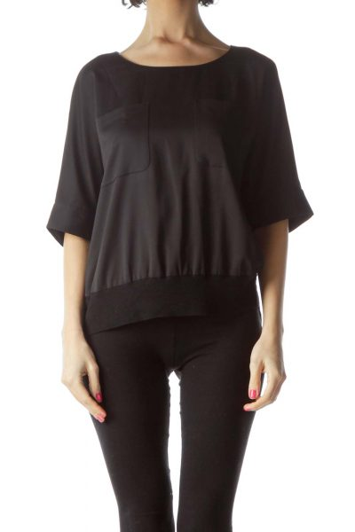 Black Short Sleeve Blouse