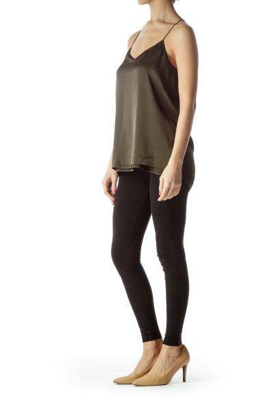 Green Asymmetric Camisole