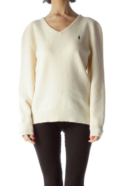 Cream Lambs Wool Sweater