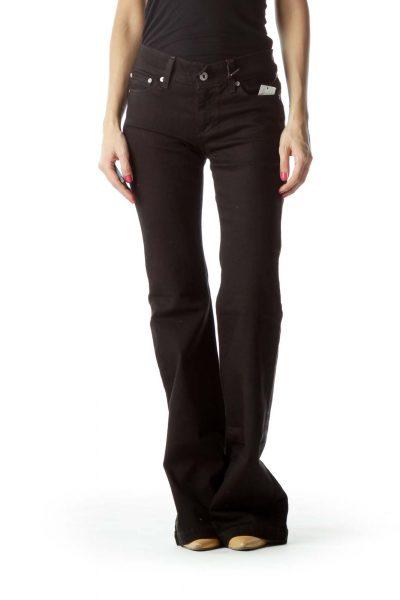 Black Denim Wide-Leg Jeans – NWT