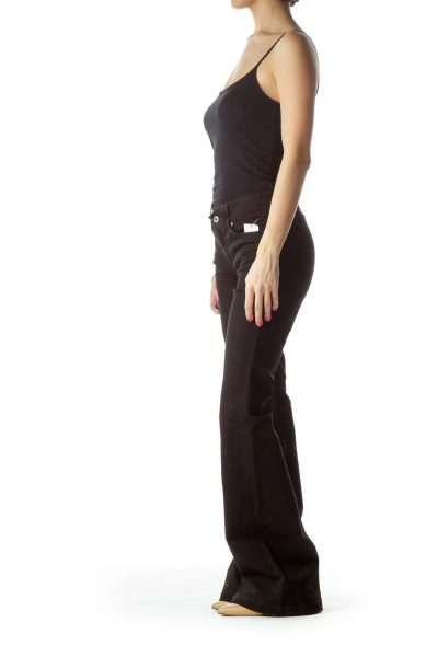 Black Denim Wide-Leg Jeans – NWT