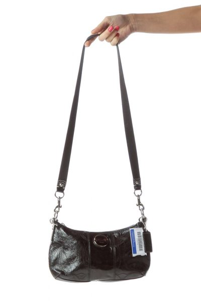 Black Patent Leather Crossbody Bag