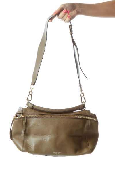 Brown Leather Satchel with Handle