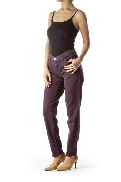 Purple Denim Skinny Jeans
