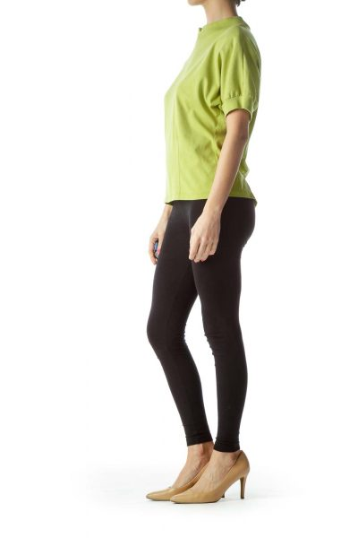 Green Raglan Sleeve Knit Top